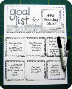 list your goals time